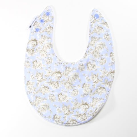 Lilac Roses Dribble Bib - Regular Style