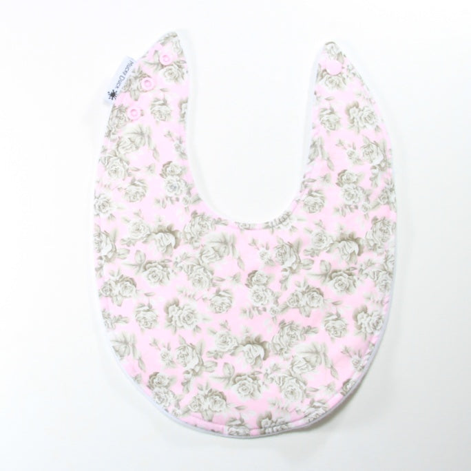 Pink Roses 2 Dribble Bib - Regular Style