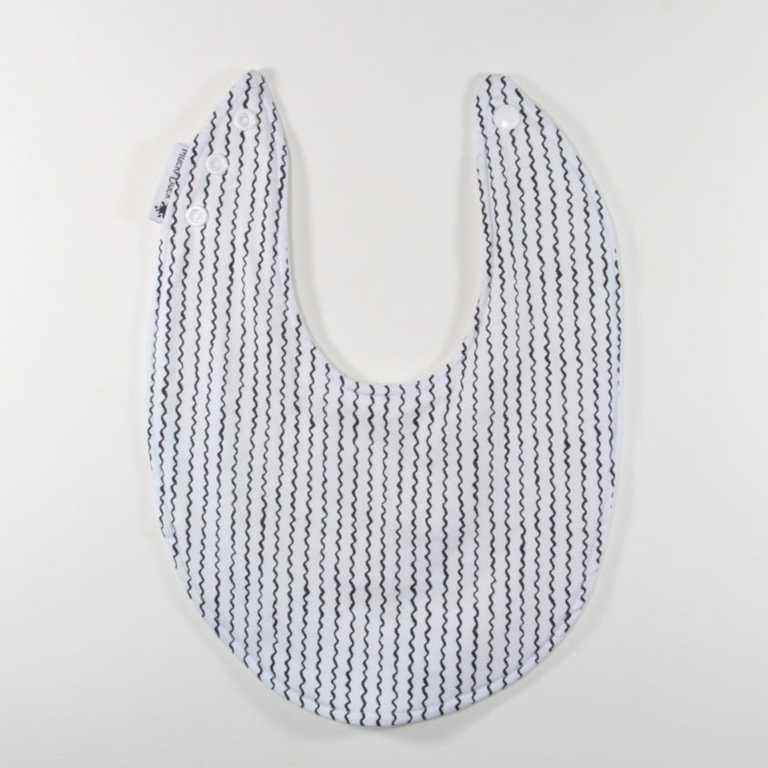 Monochrome Lines Dribble Bib - Regular Style