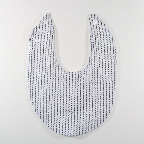 Mucky Duck monochrome line pattern dribble bib