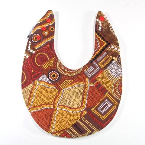 Aboriginal Squares and Circles Bib - Regular Style - New