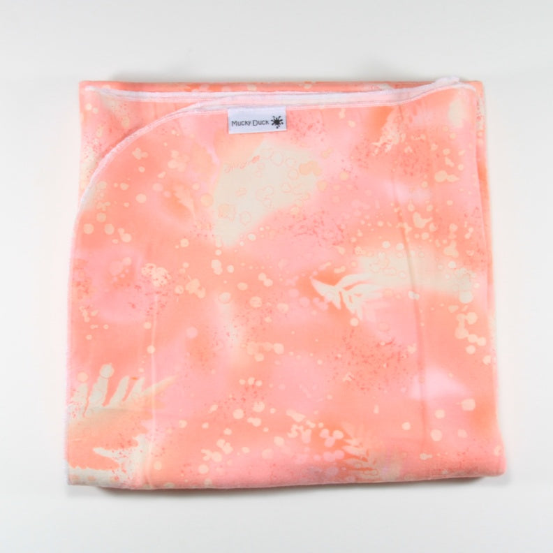 Mucky Duck blush batik patterned flannelette swaddle wrap