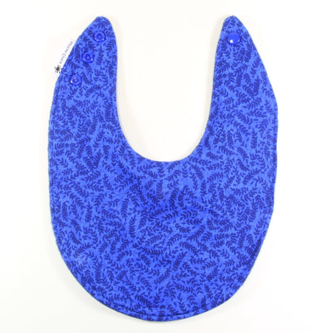 Dark Blue Foliage Dribble Bib - Regular Style - New