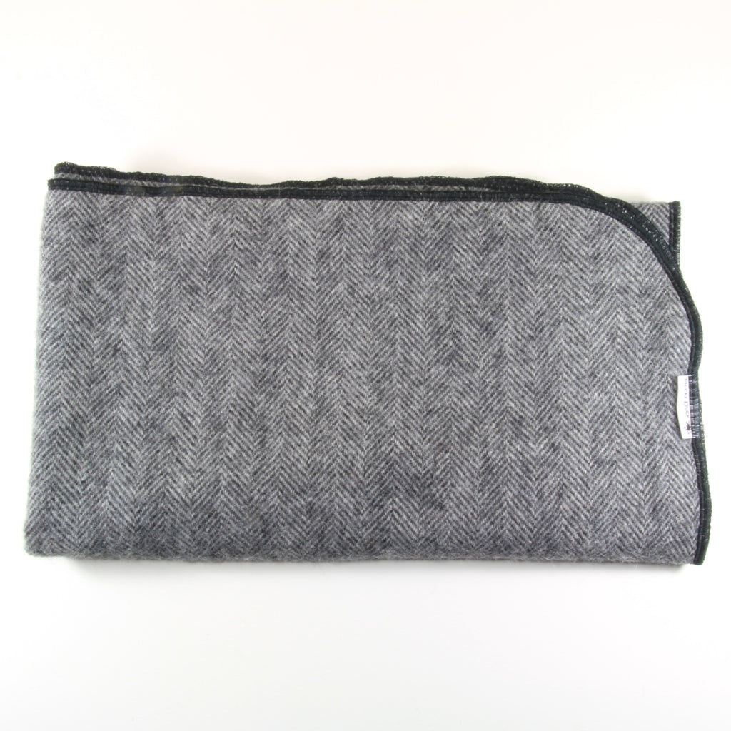 Dark Grey Alpaca Pram Blanket