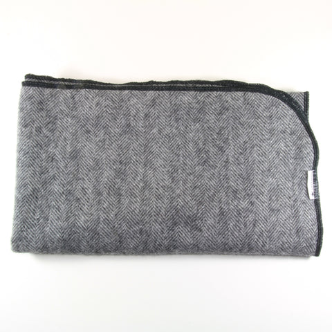 Mucky Duck dark grey alpaca wool pram blanket