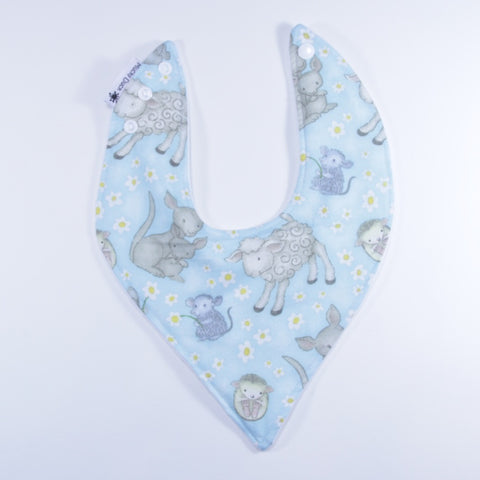 Mucky Duck blue Australian animals bandana dribble bib