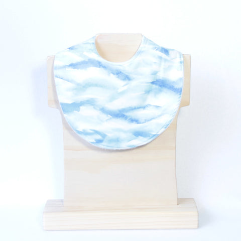 Mucky Duck blue watercolour dribble bib