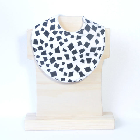 Mucky Duck monochrome pattern dribble bib