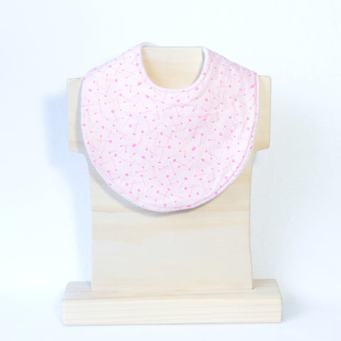 Mucky Duck Crafts Pink patterned regular dribble bib
