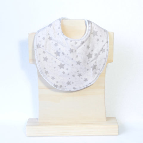 Mucky Duck grey stars regular dribble bib