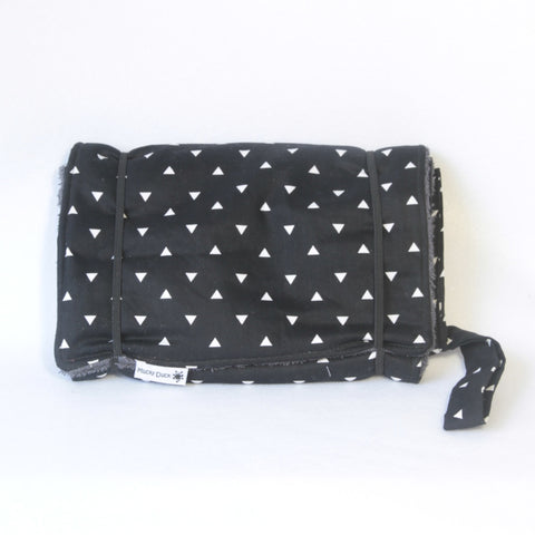 Mucky Duck Crafts black and white geometric pattern nappy wallet and change mat set