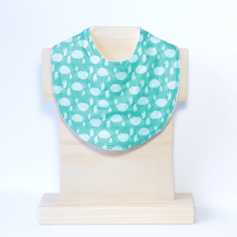 Mucky Duck Crafts Green with Mint Crabs Regular dribble bib