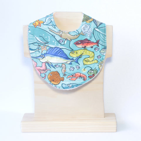 Mucky duck crafts sea creatures swordfish eel plaice whale lobster angler fish regular dribble bib