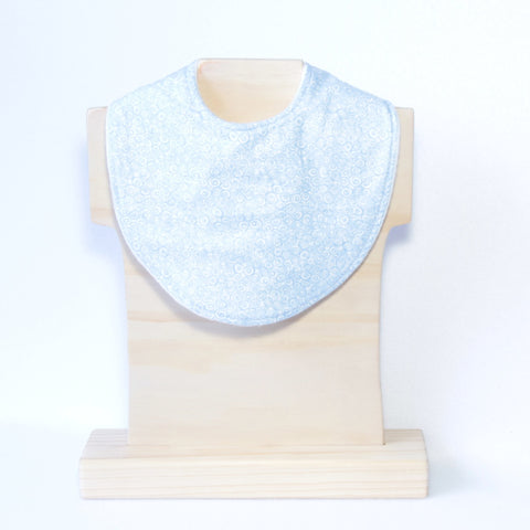 Mucky Duck blue swirl pattern dribble bib