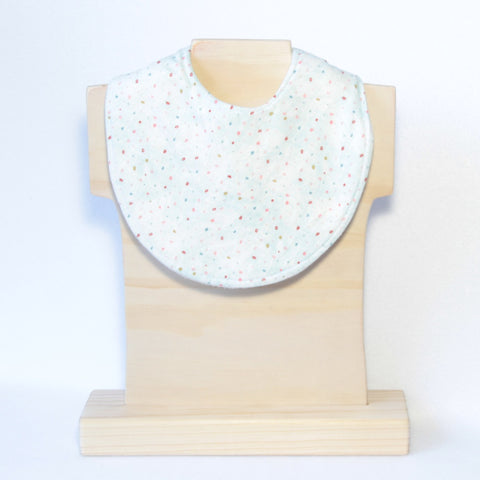Mucky Duck mint with colourful dots dribble bib