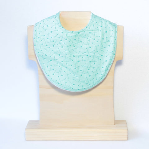 Mucky Duck mint patterned dribble bib