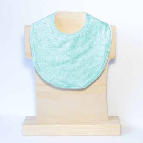 Mucky Duck mint green boomerang dribble bib