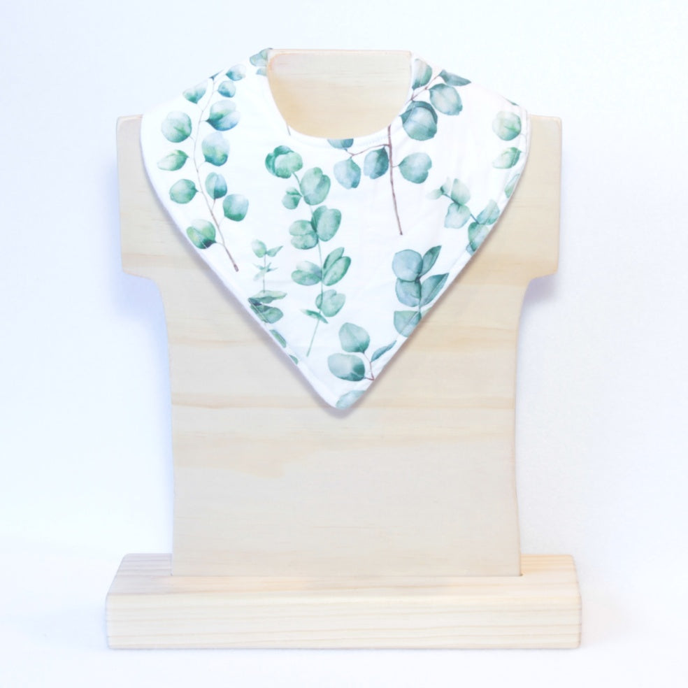Mucky Duck Crafts eucalyptus leaf bandana dribble bib