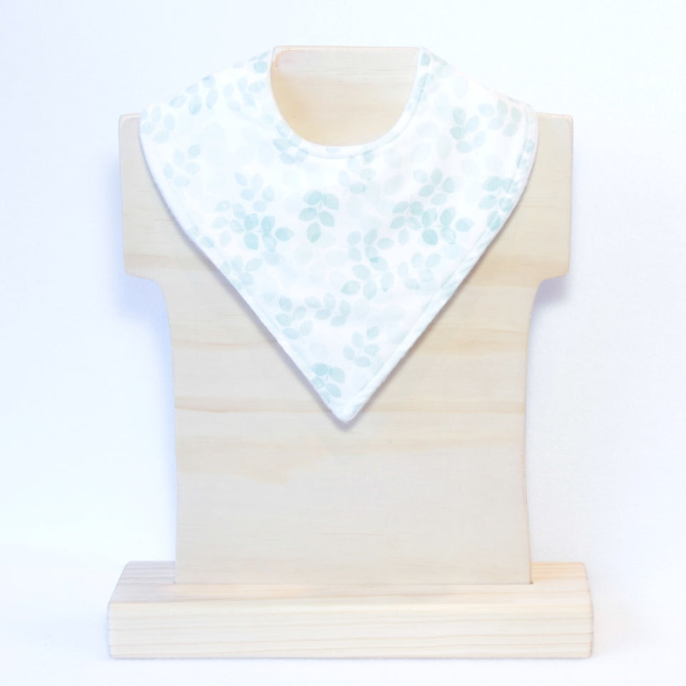 Mucky Duck Crafts Rose Leaf bandana dribble bib