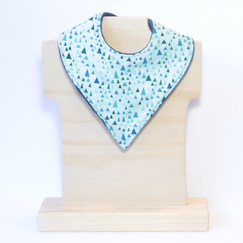 Mucky Duck Crafts Mint with triangles bandana dribble bib