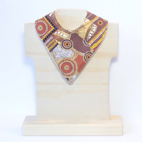 Mucky Duck Crafts Aboriginal art bandana dribble bib