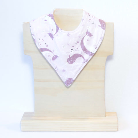 Mucky Duck purple narwhal bandana dribble bib