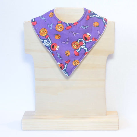 Mucky Duck purple Elmo Halloween bandana dribble bib