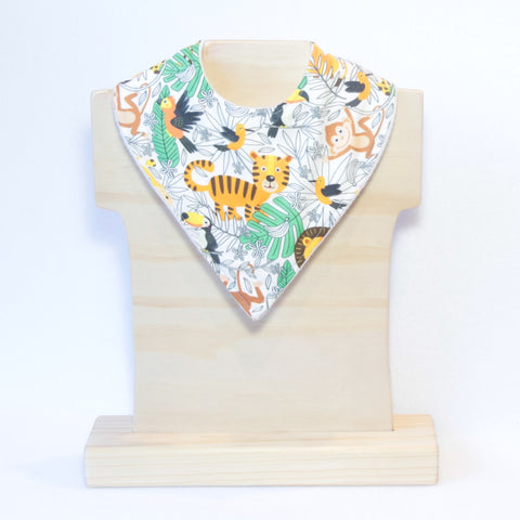 Mucky Duck giraffe lion tiger monkey toucan jungle bandana dribble bib