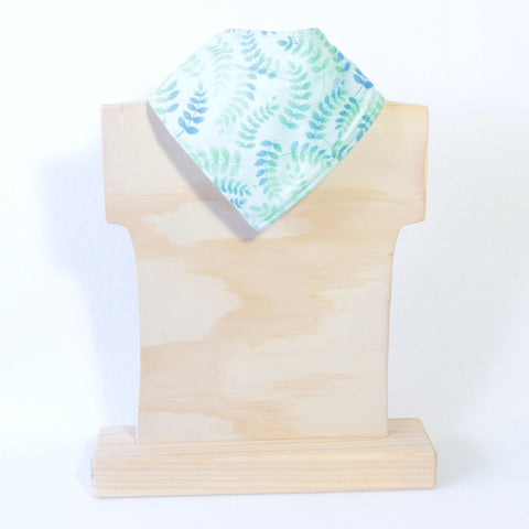 Mucky Duck blue green nature leaves dribble bib