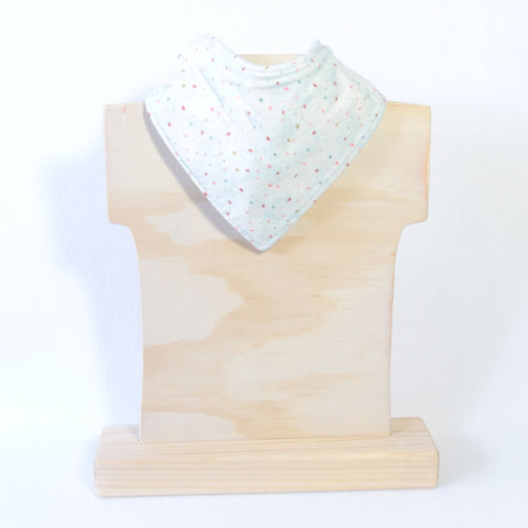 Mucky Duck mint with colourful dots bandana dribble bib