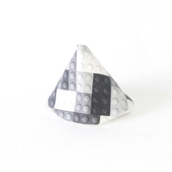 Mucky Duck Crafts wee wee tee pee in monochrome building blocks