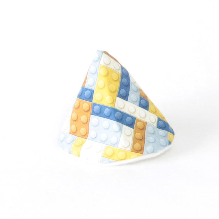 Mucky Duck crafts blue and mustard building blocks wee wee tee pee