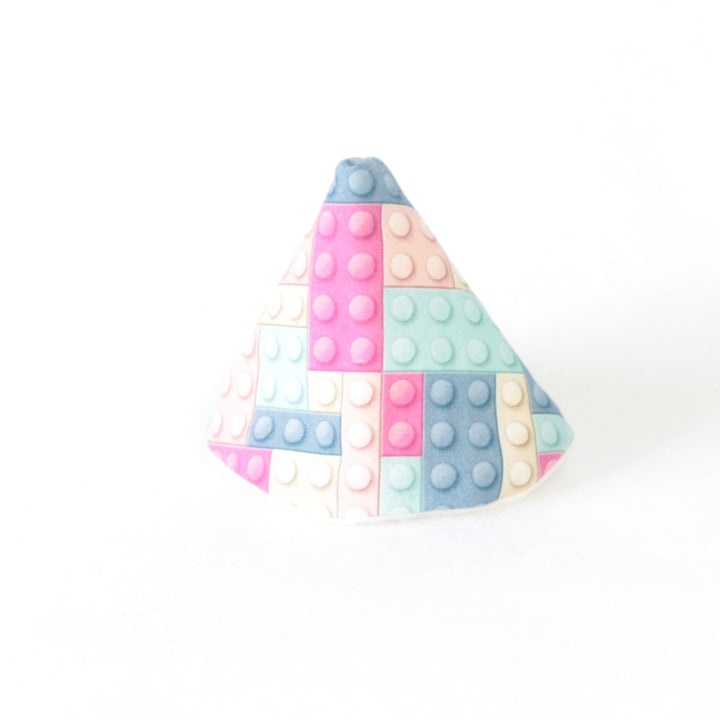 Mucky Duck Crafts wee wee tee pee in pink and blue building blocks
