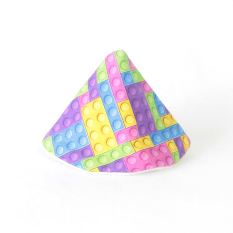 Mucky duck crafts wee wee tee pee in pink purple yellow blue and green building blocks