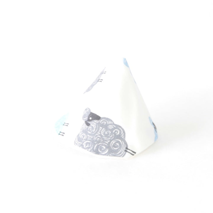 Mucky Duck Crafts wee wee tee pee in white with grey blue and mint sheep