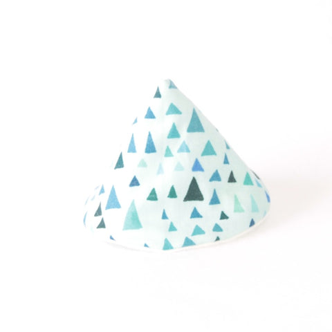 Mucky Duck Crafts wee wee tee pee in mint with triangles