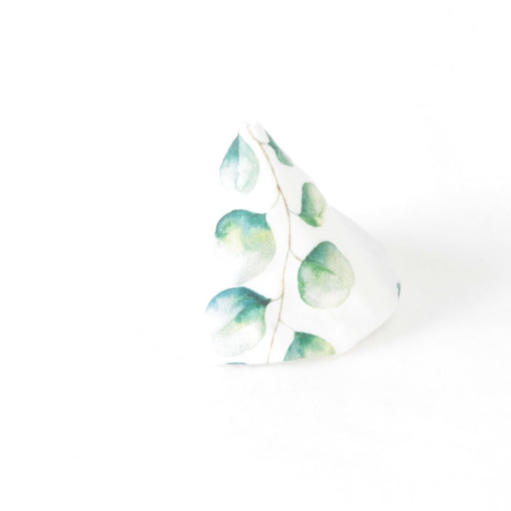 Wee Wee Tee Pee - White with Eucalyptus Leaves