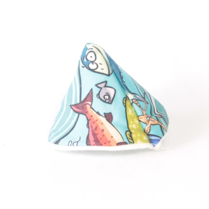 Mucky Duck wee wee tee pee bright sea creatures octopus shark angler fish eel