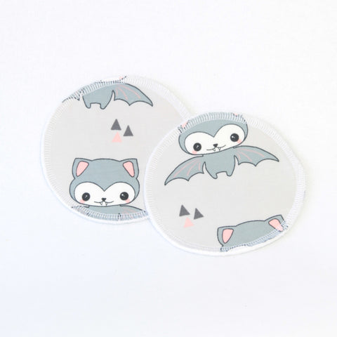 Mucky Duck nursing breast pads purple bats