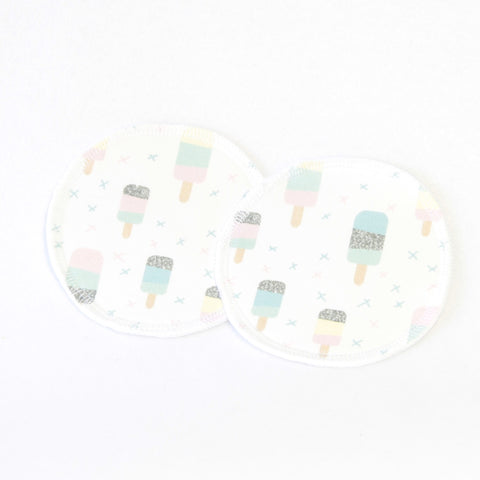 Mucky Duck white pastel ice lollies nursing breast pads