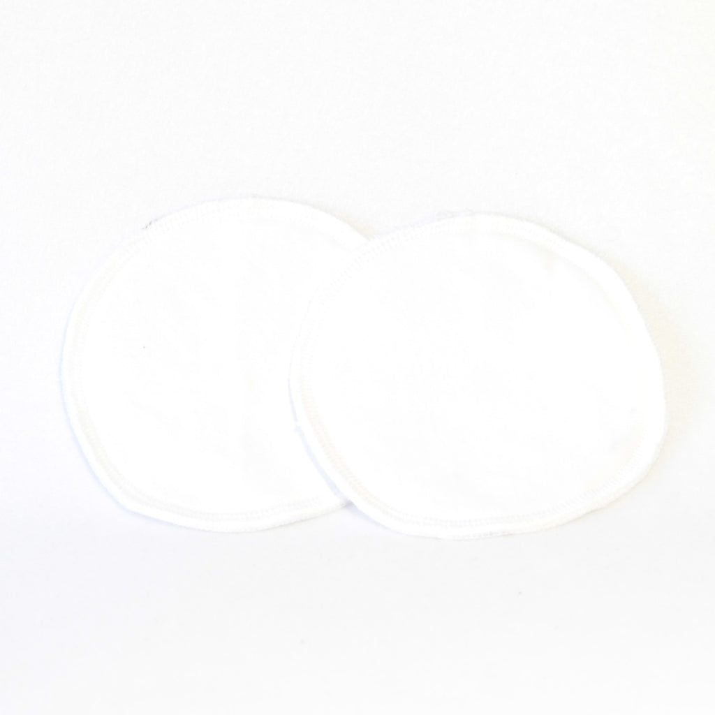 Mucky Duck eco friendly reusable nursing breast pads white