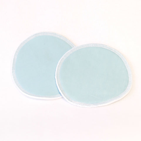 Mucky Duck pale blue eco friendly reusable nursing breast pads