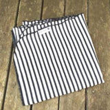 Mucky Duck monochrome black and white striped muslin swaddle wrap