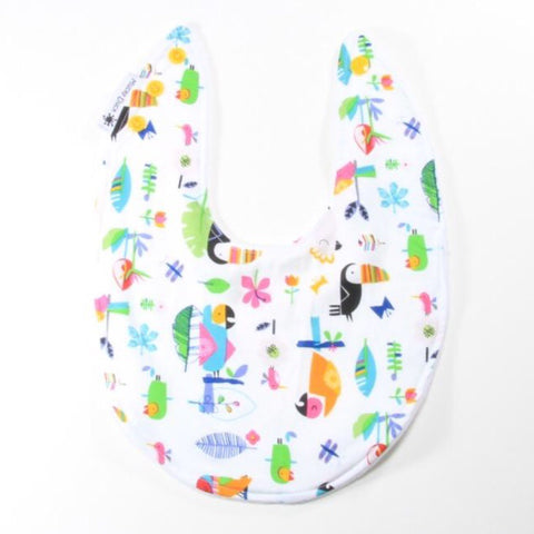 Mucky Duck bright jungle toucan parrot dribble bib