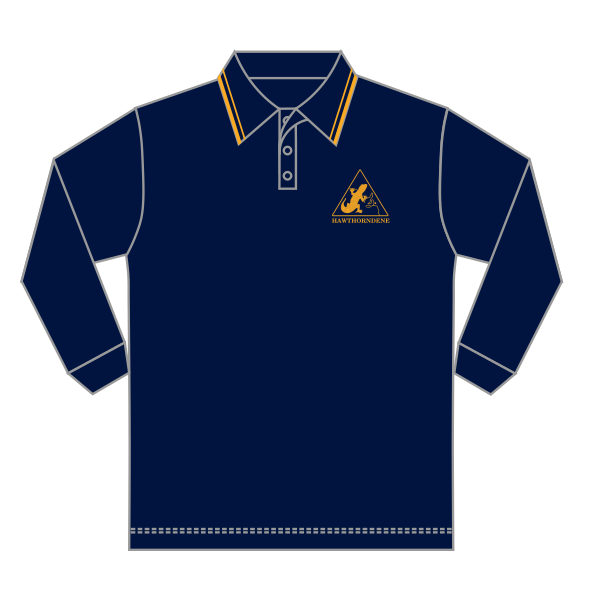 Hawthorndene PS | Navy Polo - LS - *Discontinued*