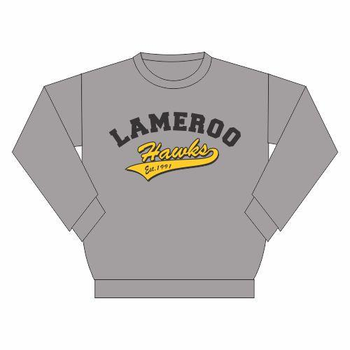 Lameroo Hawks SC | Crew Neck Windcheater (black or grey)