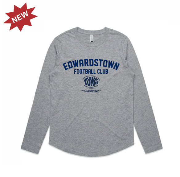 Edwardstown FC | Cotton Tee - Long Sleeve - Female Cut