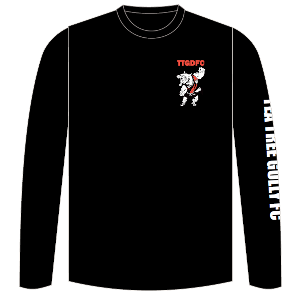Tea Tree Gully DFC | Long Sleeve Tee - Black