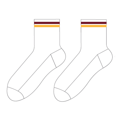 Cabra Dominican College | P.E. Socks - White