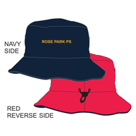 Rose Park PS | Reversible Bucket Hat - Navy/Red